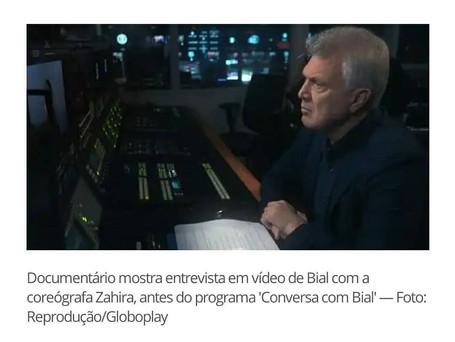Documentary shows video interview by Bial with choreographer Zahira, prior to the program Conversa com Bial, Photo credit: Reprodução/Globoplay