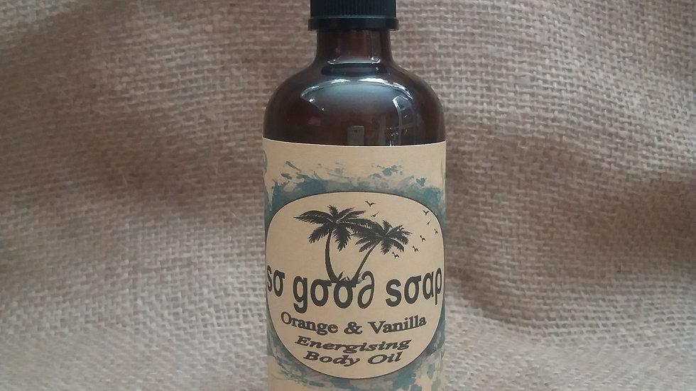 Energising Body Oil 100ml Orange & Vanilla