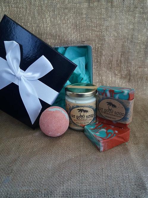Natural Gift Set Soaps, Bath Bombs & Shea Butter