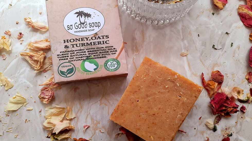 Honey, Oats & Turmeric Soap Bar 110g