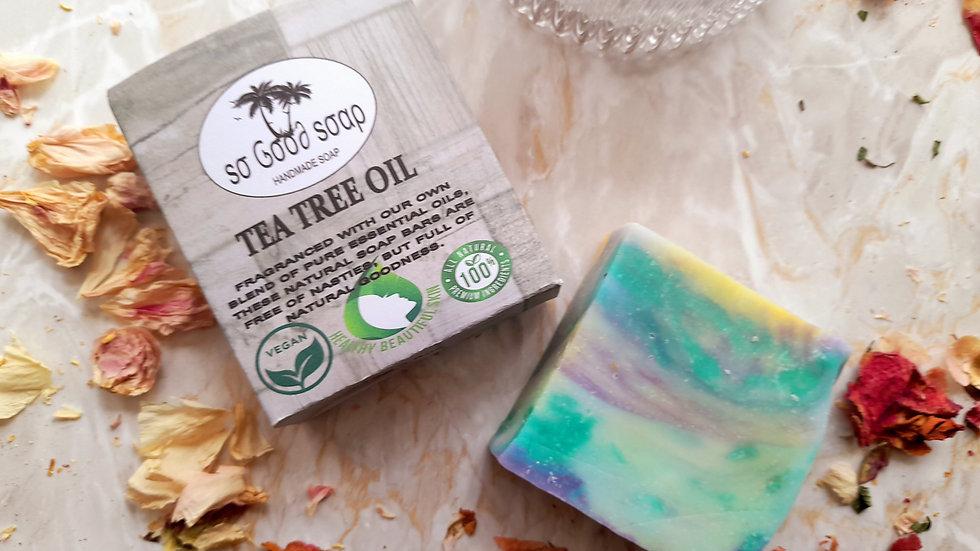 Handmade  Tea Tree Oil Soap Bar 120g