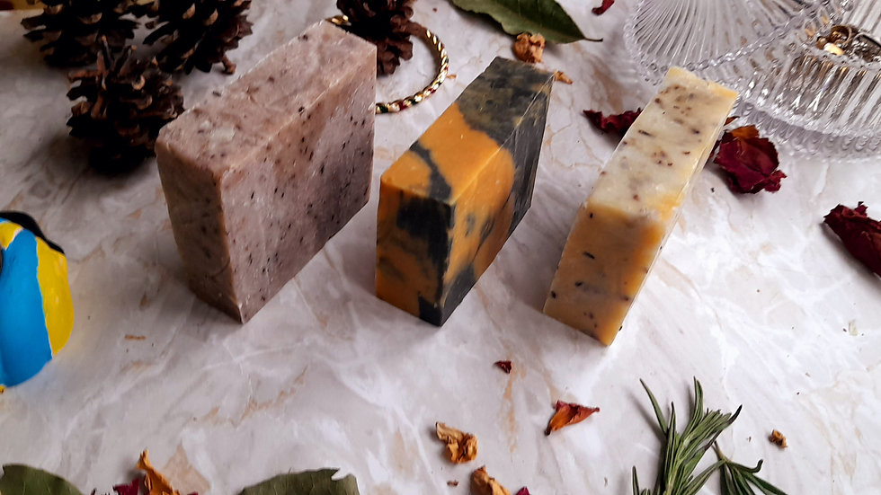 Natural Skincare Gift Soap Box Set 3 x120g Lets Face It Pack