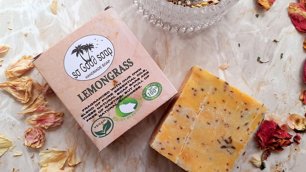 Handmade Lemongrass Oil Soap Bar 120g