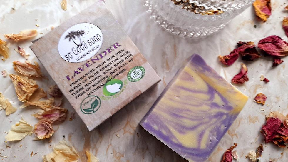 Handmade Lavender Oil Soap Bar 120g