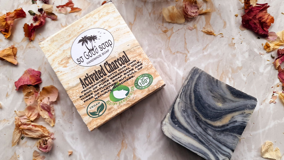 Handmade Activated Charcoal Soap Bar 110g