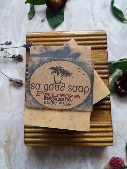 Handmade Natural Soap Bar Papaya 120g
