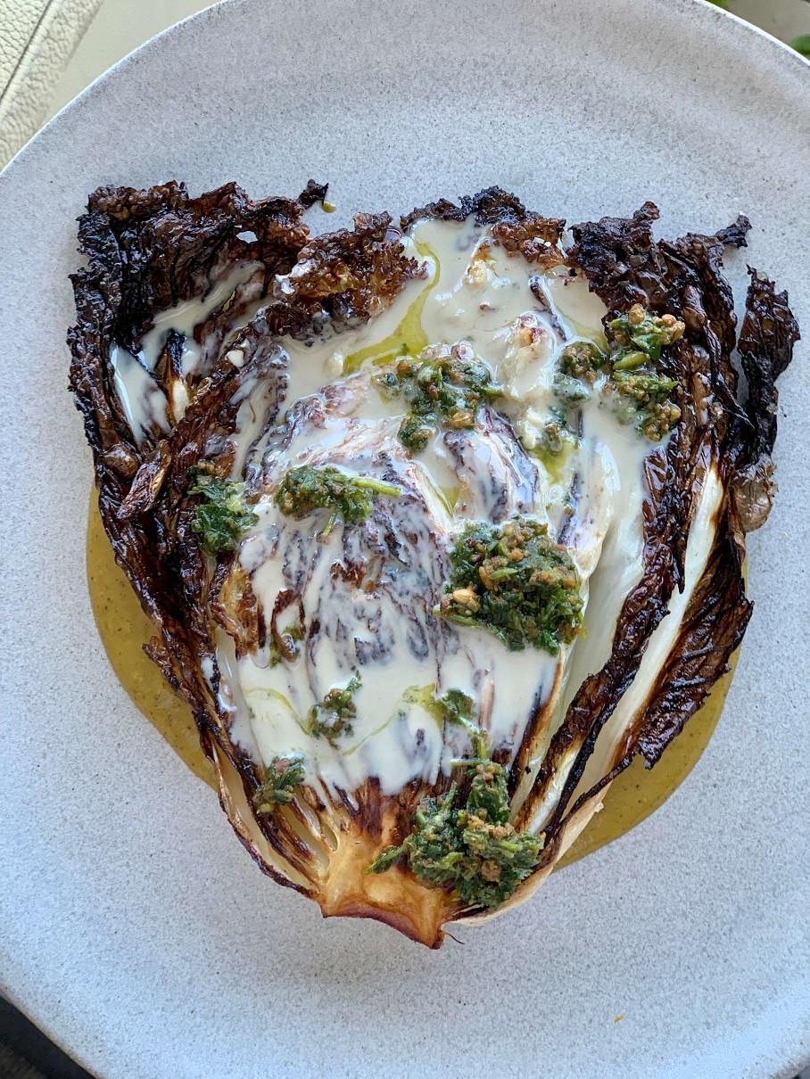 מתכון מהיר קל כרוב סיני צלוי הכי טעים שיש עם טחינה גולמית ופסטה צלוי בתנור