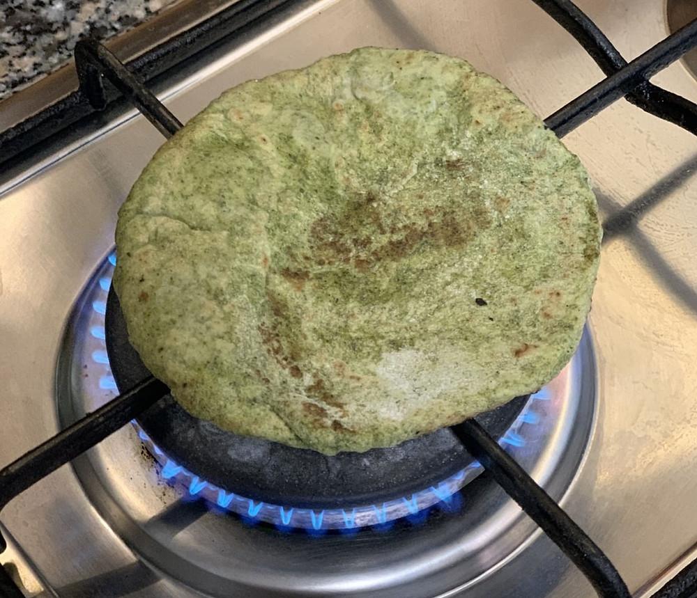 מתכון של בצק של פיתה ירוקה מתרד