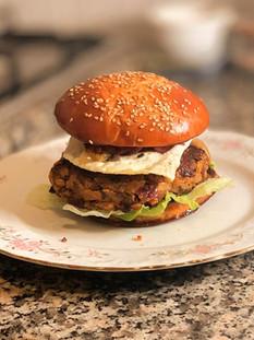 המבורגר פטריות טבעוני