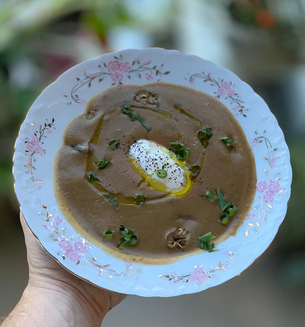 מתכון טעים מושלם של מרק ארטישוק ירושלמי וערמונים עם פטנט