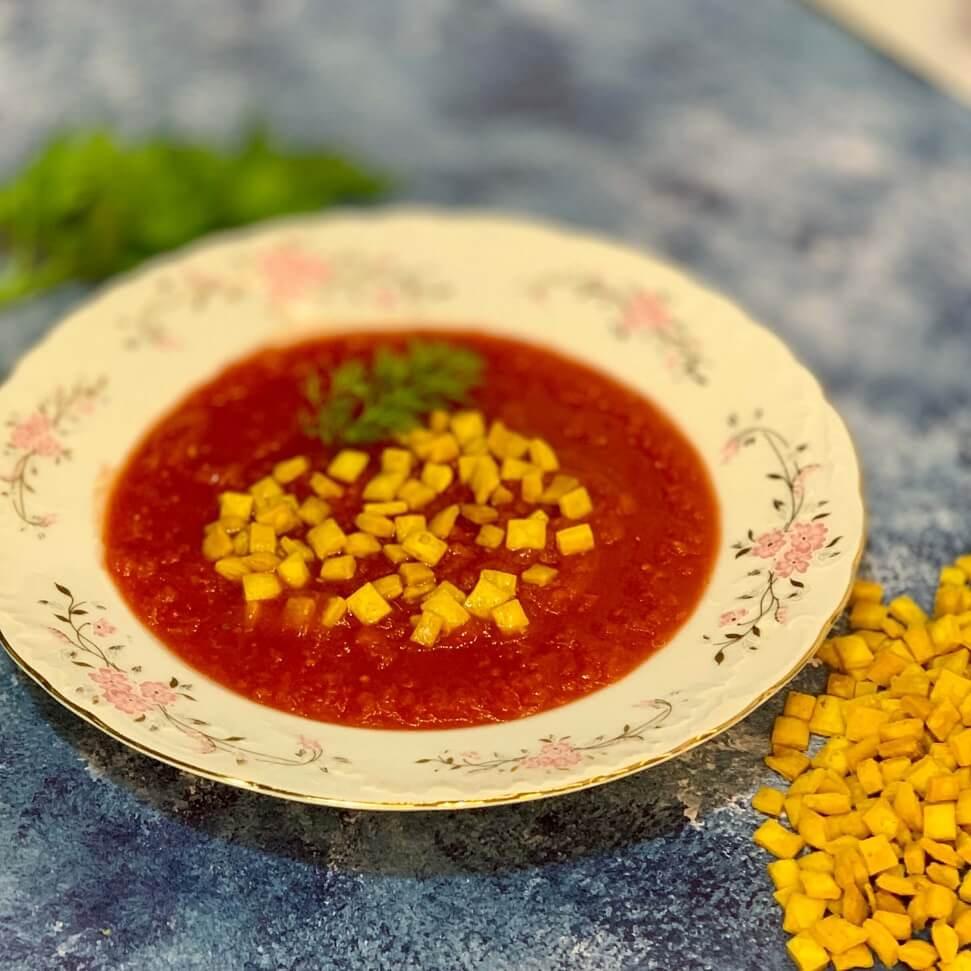 מרק עגבניות עם מתכון של שקדי מרק ביתיים בריאים