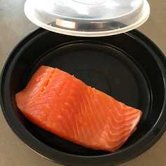 Salmon in a BYO 'disposable'