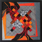 Orange and gray squares and the black rivers