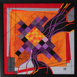 Orange and purple squares and the dark river
