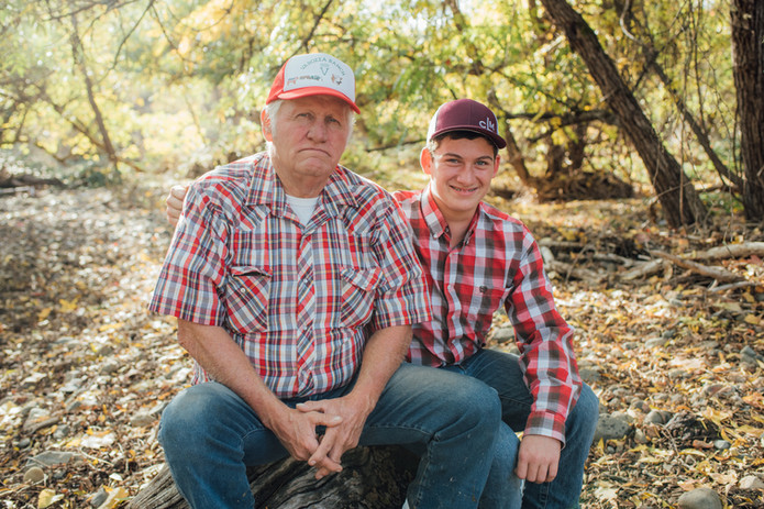 Grandpa Wayne and Colton