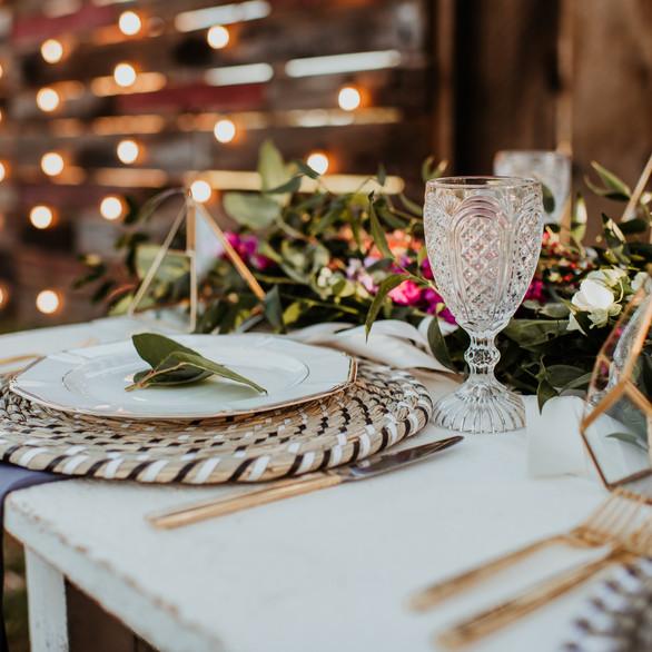 Brittney + Jordan Reception Tables