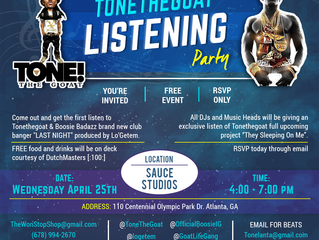 "ToneTheGoat's Listening Party for ""Last Night"" and ""T.S.O.M."""