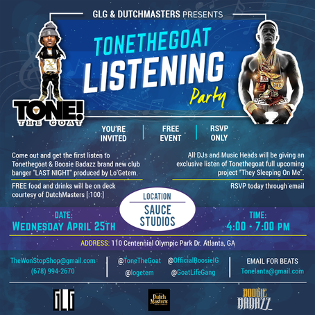 """ToneTheGoat's Listening Party for """"Last Night"""" and """"T.S.O.M."""""""