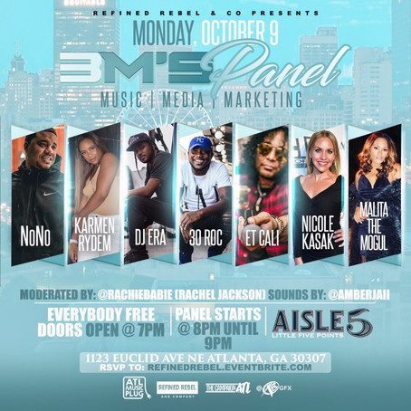 """The Campaign ATL presents, """"3M's Panel"""" & """"Gambino's Jam Session"""""""