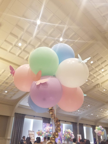 A whimsical butterfly inspired celebration. Centerpiece - Arianna's 1st Birthday