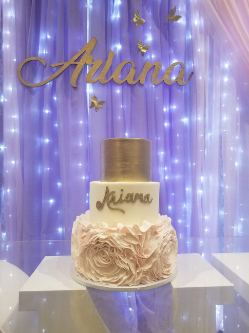 A whimsical butterfly inspired celebration. Birthday Cake - Ariana's 1st Birthday