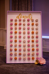 A whimsical butterfly inspired celebration. Donut Wall - Ariana's 1st Birthday