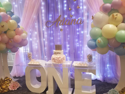 A whimsical butterfly inspired celebration. One - Ariana's 1st Birthday