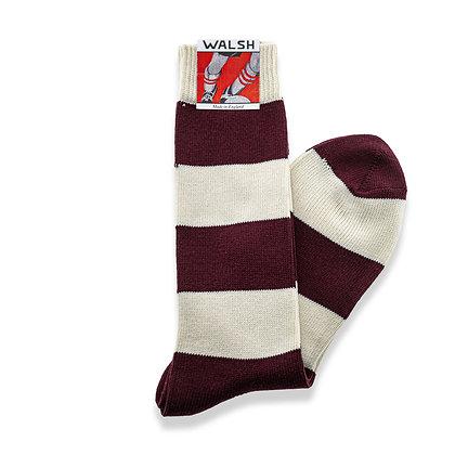 League Socks - Claret