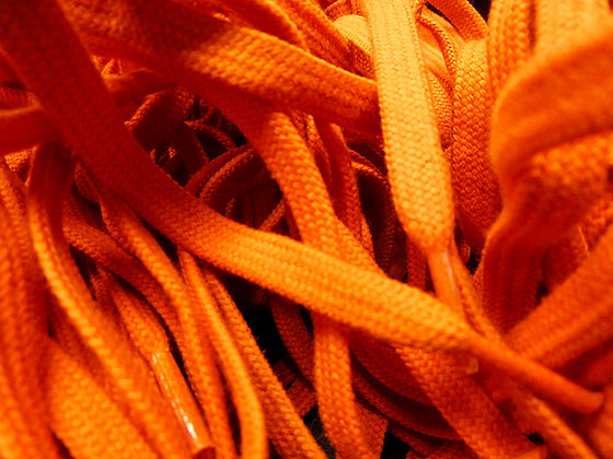 tangerine bright orange shoe laces