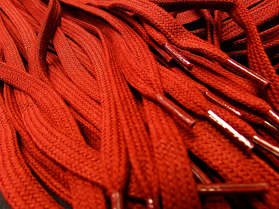 dark red shoe laces