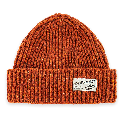 bright orange bob hat