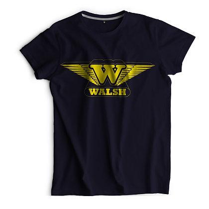 Walsh Printed T-Shirt -Navy