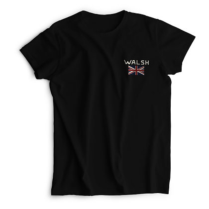Walsh Logo Printed T-Shirt -Black