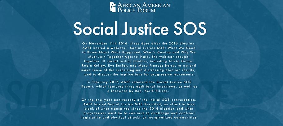 Social Justice SOS Image