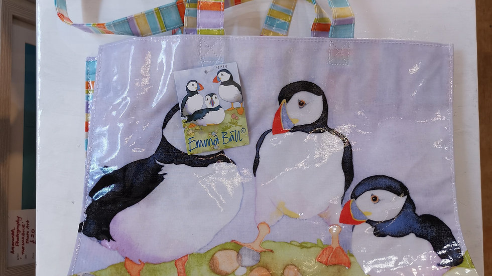 PVC  Puffins Craft storage/all purpose bag