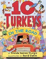 10 Turkeys in the Road, by Brenda Reeves Sturgis, illustrated by David Slonim