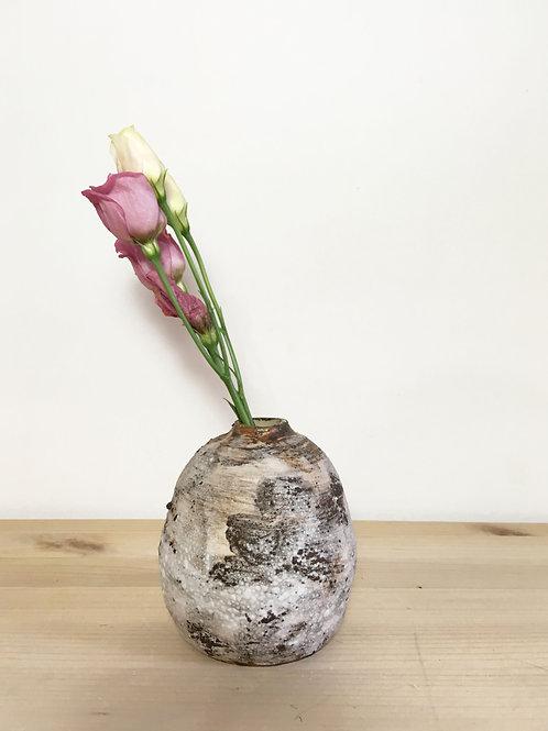 White Moss Vase