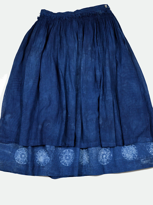 sei-ran 青藍 collection, botanical skirt