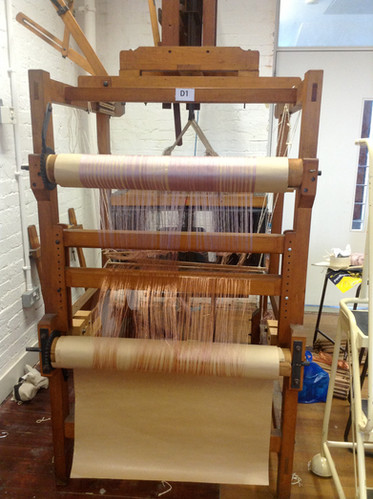 Winding warps on the loom - Emi Fujisawa