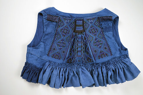 sei-ran 青藍 collection, boro waistcoat