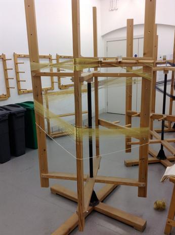 Making warps on the warping mill - Emi Fujisawa