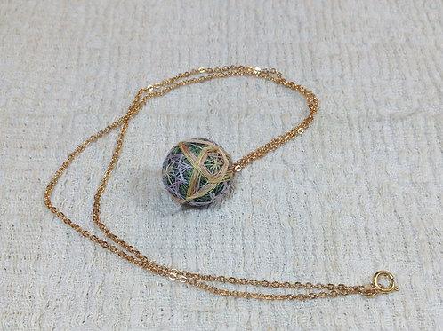 Botanical Ball Necklace  - Moss Green