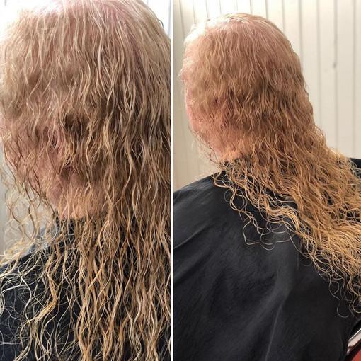 Beach waves for fine hair.