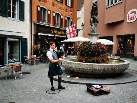 Strassenmusik in Baden, 22. August 2020