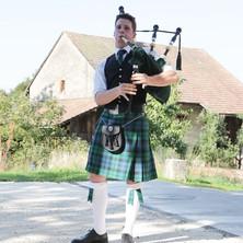 Zemmi the Bagpiper, Hochzeit, Villigen, Aargau