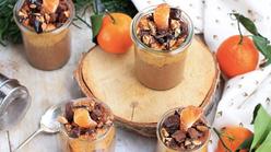 Crème de Cacao Cru, Clémentines et Nougatine