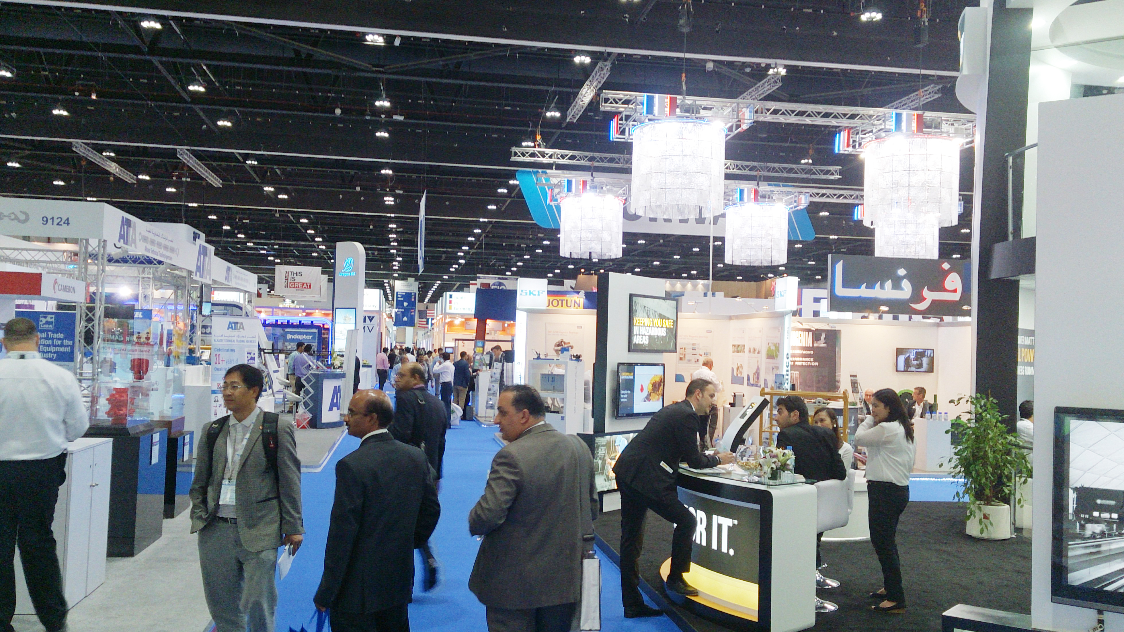 AT ADIPEC EXHIBITION