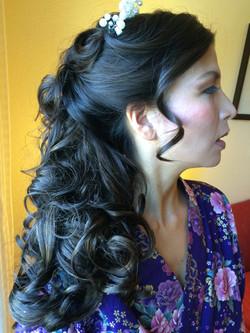 Half up & hair down