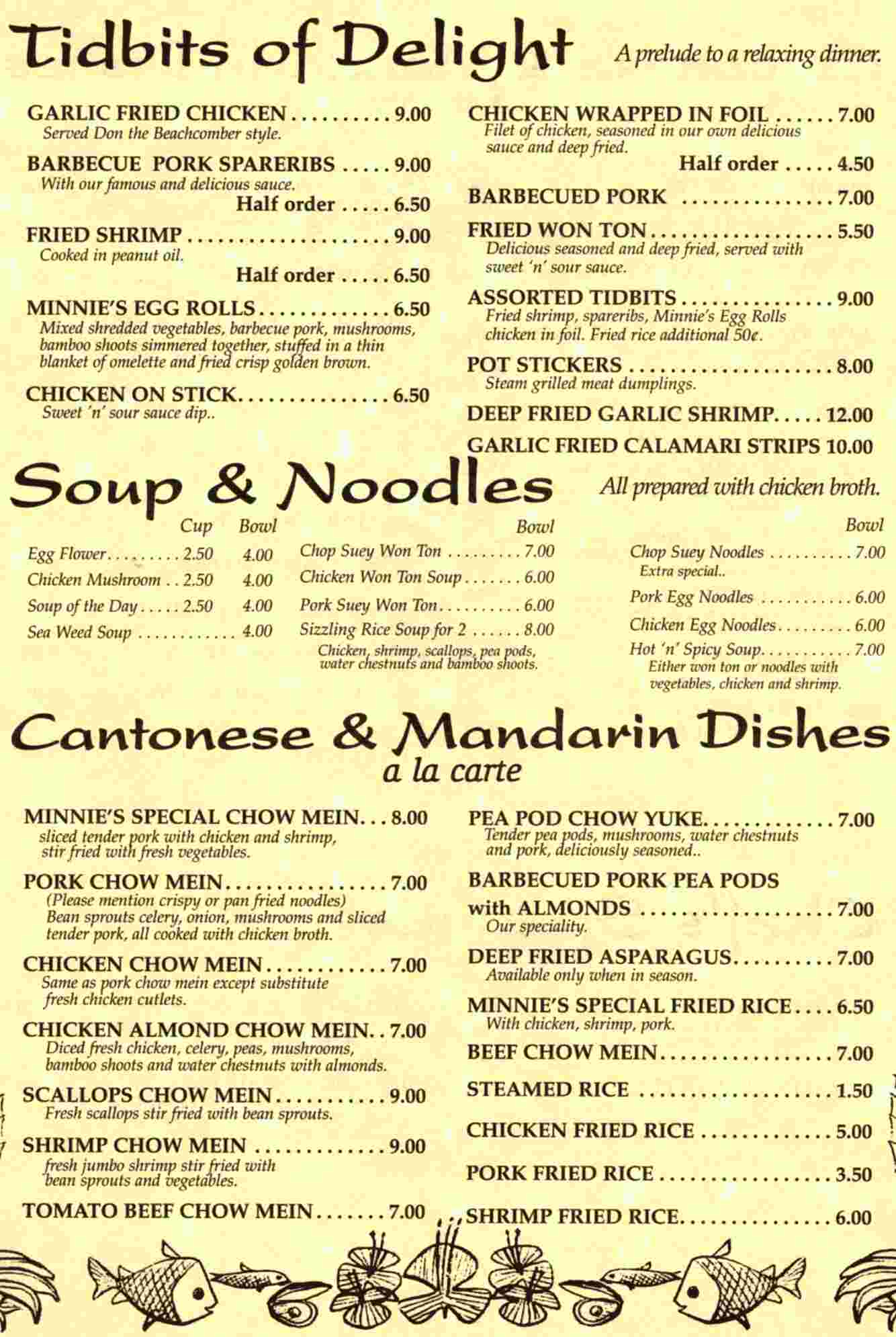 Minnie's Menu