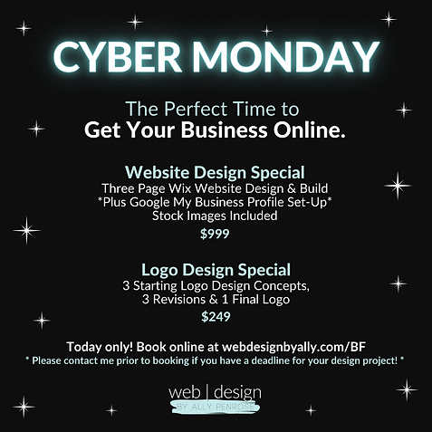 Cyber Monday Website Deal